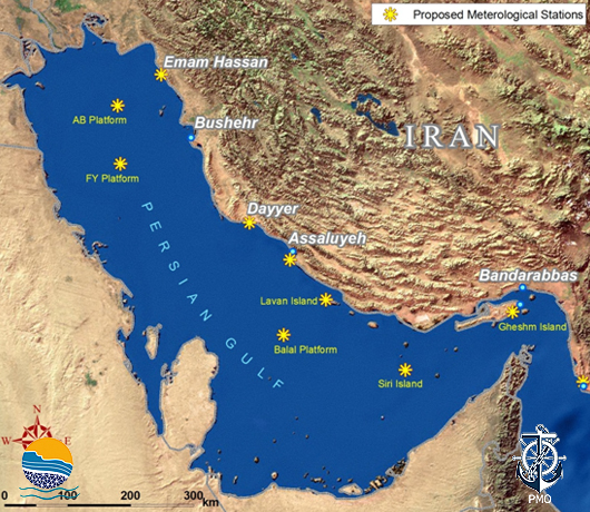 Proposed Meteorological Stations in the Persian Gulf